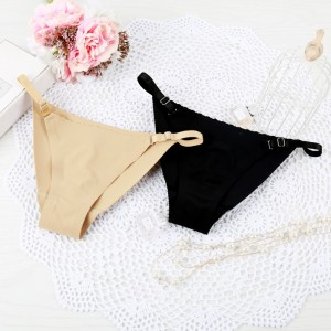 Women Adjustable Seamless Bikini Thong Panties