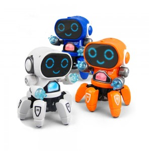 Six-claw Music Dancing Electric Robot Toys