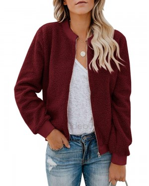 Women Winter Coat Teddy Bomber Jacket