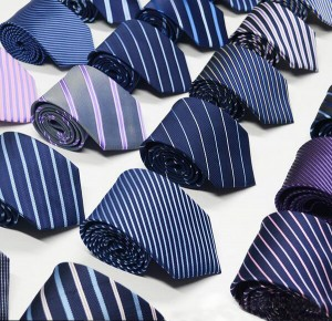 Classic Striped Black Men Tie