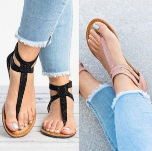Summer Flat Sandals Ladies Bohemia Beach Shoes