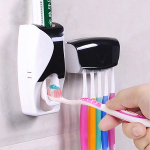 Dispenser Toothpaste Creative Automatic Lazy Plastic Squeezer Toothbrush Holder