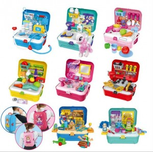 Pretend Play Makeup Set Toys with Backpack