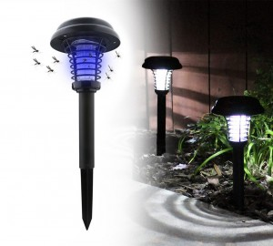 Solar LED Light with Insect Trap
