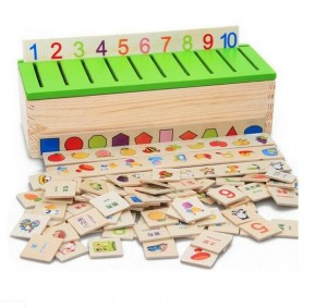 Knowledge Classification Box Toys for Children Wood Box