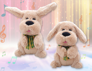 Electric Peek A Boo Dog Singing Music Toys