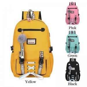 Anti Theft USB Backpack School Bags