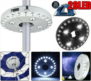 28 LED Garden Umbrella Lights