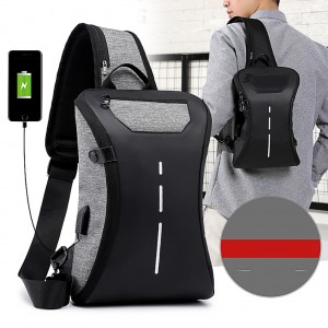 Men Women USB Charging Multifunctional Chest Bag