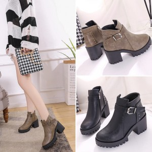 Women Thick Heel Warm Martin Boots