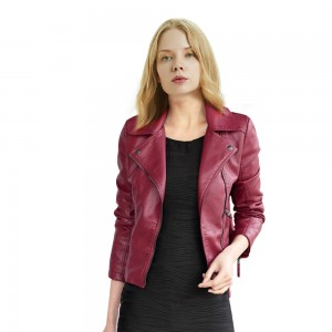 Women Slim Motorcycle Jacket Coats