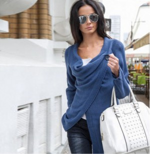 Women Loose Cardigan Knitted Sweaters