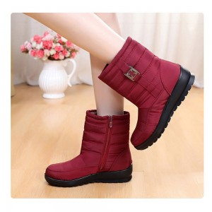 Women Waterproof Snow Boots Cotton Shoes