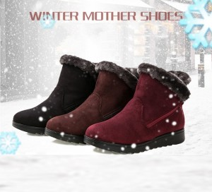 Winter Cotton Cloth Shoes Women Snow Boots