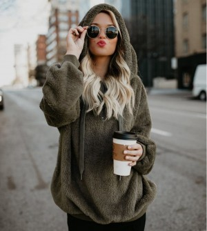 Autumn Winter Women Hoodie Coat Sweaters