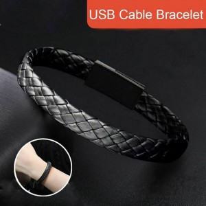 USB Cable Bracelet Wristband Charger Data