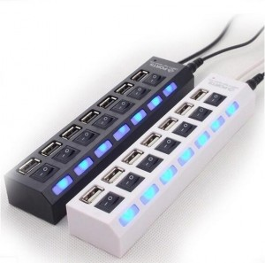 7 Ports LED USB 2.0 Adapter Hub
