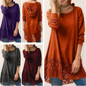 Women Fashion Pure Long Sleeved T-shirt