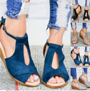Women Fashion Comfort-Sole Wedge Heel Sandals