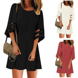 Women Summer Casual Short Sleeves Dress