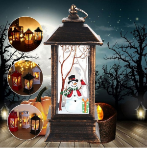 Christmas Decoration Hanging Candlestick Flame Light