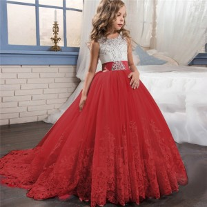 Girl Wedding Lace Princess Dress