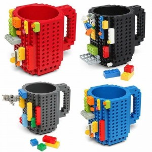 DIY Creative Lego Build On Brick Mugs