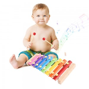 8 Scales Xylophone Kids Wooden Toys