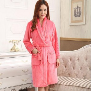 Women Fashion Nightgown Ladies Bathrobe