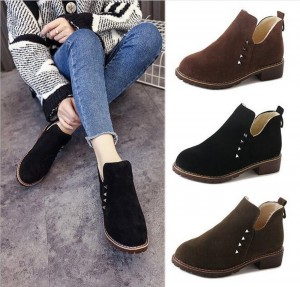Women Rivet Warm Short Boots