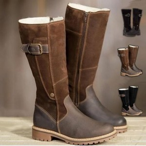 Winter Women Riding Boots Low Heel Warm Boots