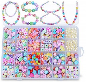 DIY Colorful Acrylic Beads Girls Puzzle Set