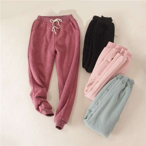 Women Plush and Thicken Sports Trousers