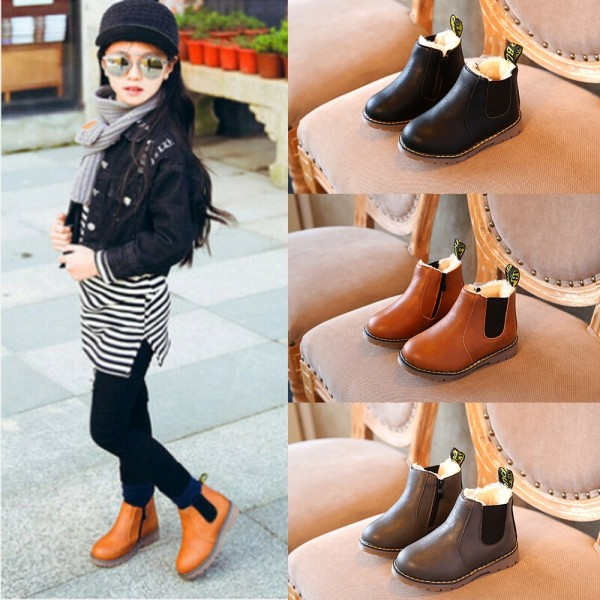Boys Girls Shoes Kids Winter Ankle